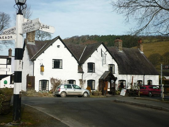 The West Arms Hotel:                   The West Arms in the Ceiriog Valley