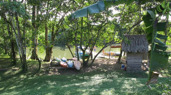 Cotton Tree Lodge:                   River access