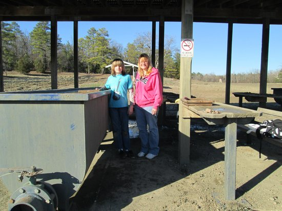 Crater of Diamonds State Park:                                     Screen washing area