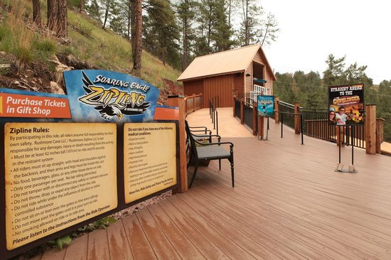 Rush Mountain Adventure Park : Soaring Eagle Zipline Ride at Rushmore Cave