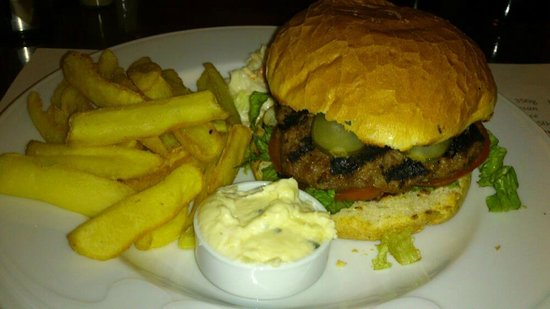 The avalon :                   honest grillled burger