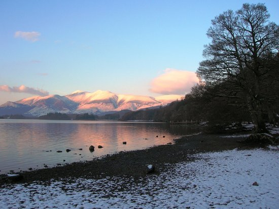Derwentwater Independent Hostel:                   The bay at the bottom of the hostel driveway