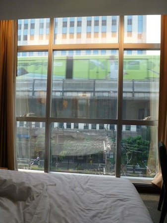 Ever Rich Hotel:                   BTS train outside the window