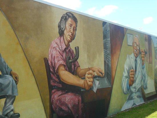 Murals of Lake Placid:                   Telephone operator