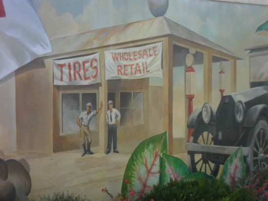 Murals of Lake Placid:                   Gas station
