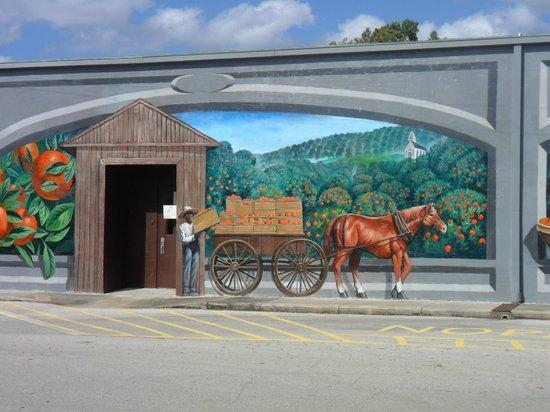 Murals of Lake Placid:                   Orange factory