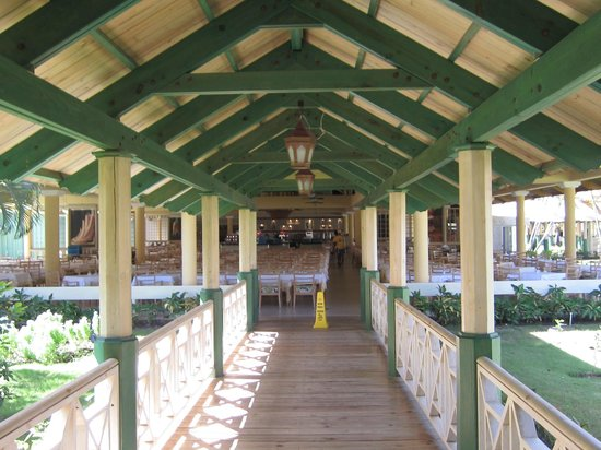 Iberostar Punta Cana:                   Entrance to buffet on Punta cana side