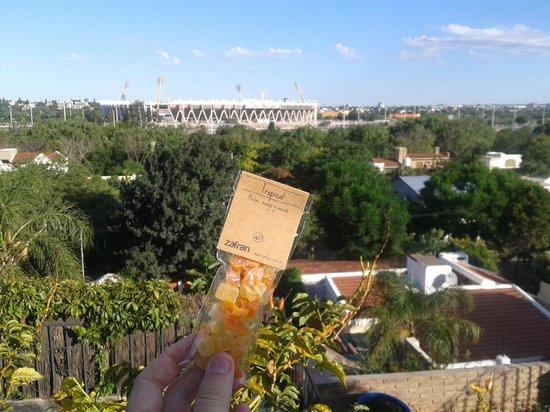 N'AIKE Casa de Huespedes:                   Vista al estadio desde la pileta.