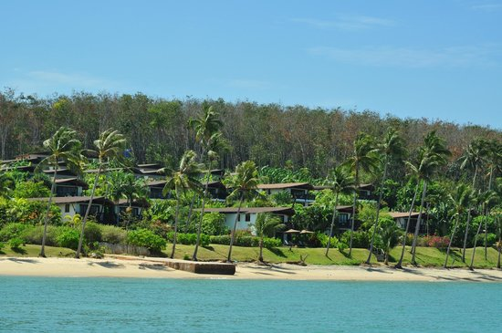 The Village Coconut Island:                   picture from our boat of the resort