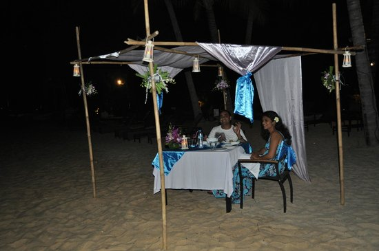 The Village Coconut Island Beach Resort:                   Anniversary set up