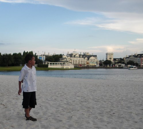 Disney's Beach Club Resort:                   Large beach for strolling, playing, relaxing