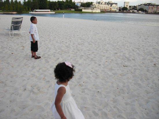Disney's Beach Club Resort:                   Watching the friendship boats on the lagoon