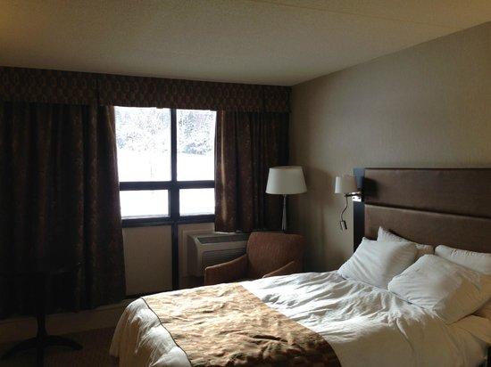Clarenville Inn:                                     Sleeping area facing window