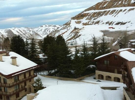 InterContinental Mzaar Mountain Resort & Spa:                   From the room in the hotel.