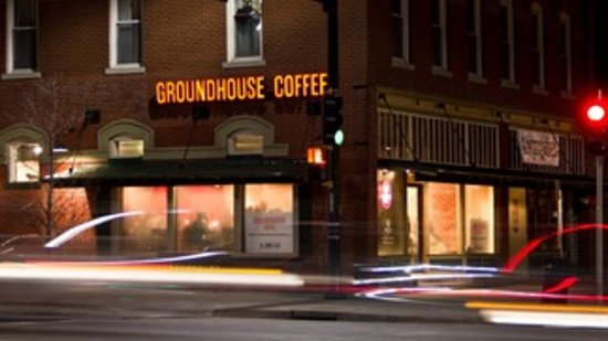 Groundhouse Coffee:                   View from Main St and Elm