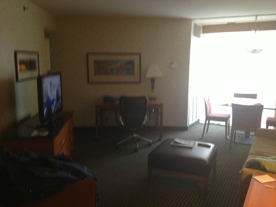 Embassy Suites by Hilton Philadelphia - Center City:                   Main room, small kitchen to left.