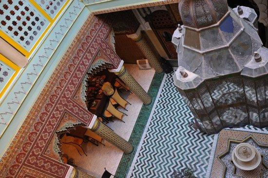 Riad et Dar Maison Do:                   udsigt fra 1. sal
