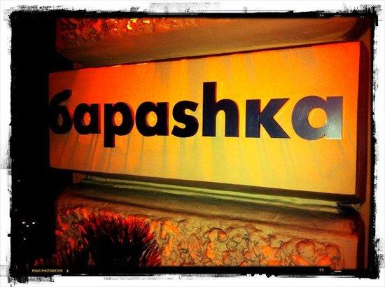 Barashka:                                     Restaurant Sign