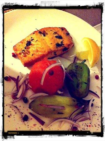 Barashka:                                     Salmon with grilled vegetable