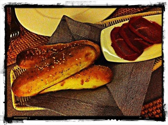 Barashka:                                     bread with smoked meat