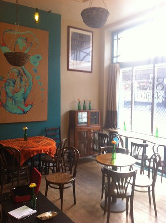 81 Renshaw:                   The cafe displays artwork from local artists, available to buy.