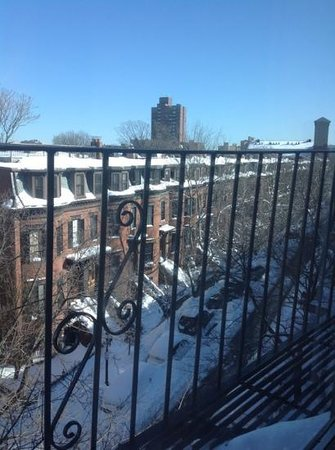 Clarendon Square Inn:                   The view from our window