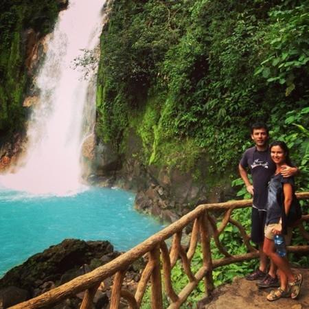 Rio Celeste:                   cascata