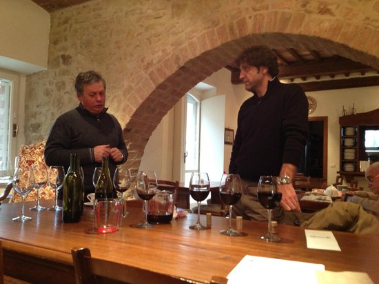 Tenuta Santo Pietro:                   Winemaking with Giuseppe and enologist