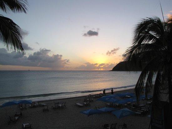 Divi Little Bay Beach Resort:                   Caribbean Sunset from Divi