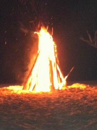 Negril Tree House Resort:                   Bon Fire at the Tree House
