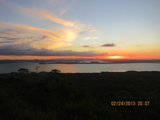 Auckland Sea Kayaks:                   Sunset view from top of Rangitoto 24 Feb 13