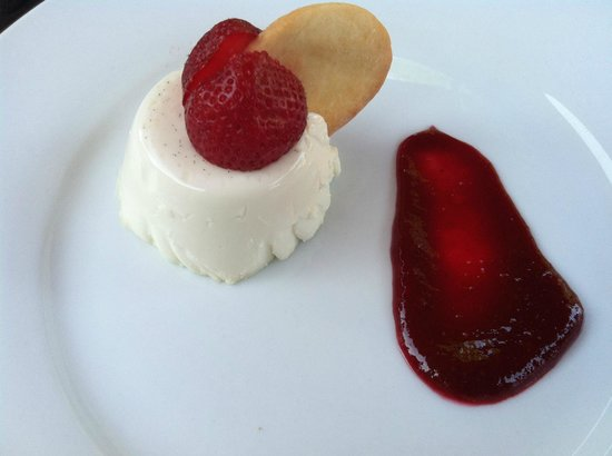 Town Hill Bistro:                   Out of this world panna cotta