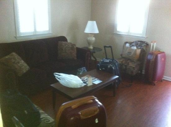 New Orleans Courtyard Hotel:                   salotto appartamento