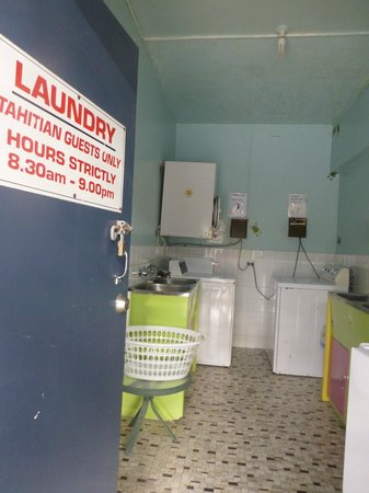 The Tahitian: Guest laundry