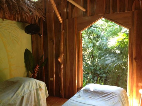 Indulgence Spa:                   The couple's massage room