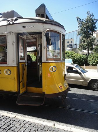 Bairro Alto:                   The door of the trolley is tight and there are steps, Impossible for wheelchai
