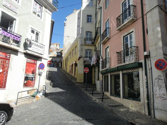 Bairro Alto:                   All paths are steep and narrow. Impossible for wheelchairs.