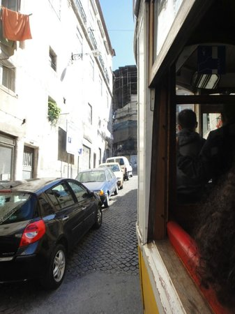 Bairro Alto:                   The troley and the way up.