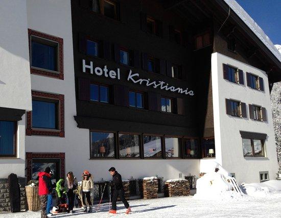 Kristiania Lech:                   hotel facade