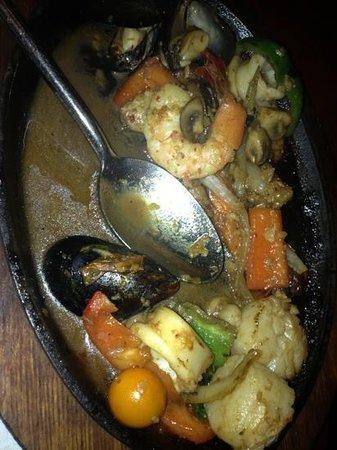 Jasmine Thai Restaurant: (Half eaten) Sizzling Talay!