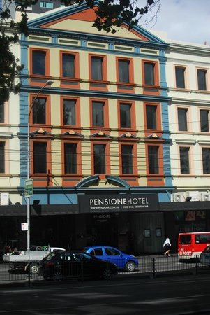 Best Western Melbourne City:                   The Pensione from the street