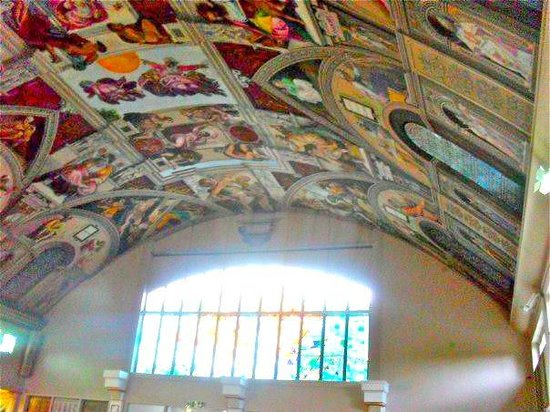 English Martyrs Catholic Church: It also has colorful glass stained windows