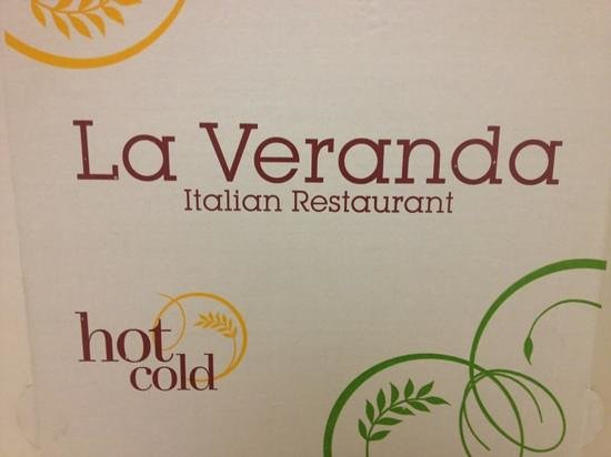 La Veranda  Italian Restaurant:                   Pizza Box