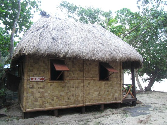 Leleuvia Island Resort:                   Bure from the outside - no need for proper windows