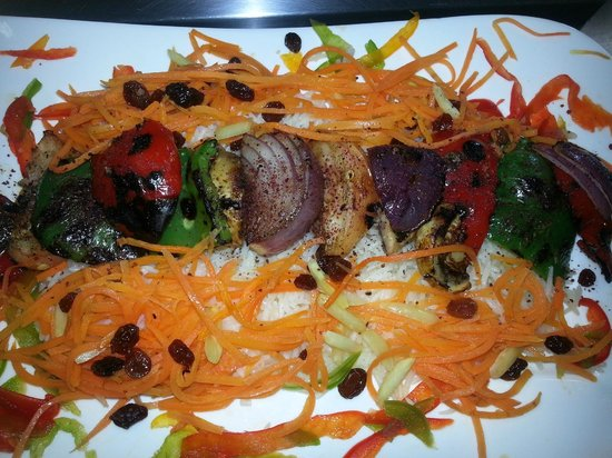 3 Olives Mediterranean Bar & Restaurant: Vegetarian Kabob