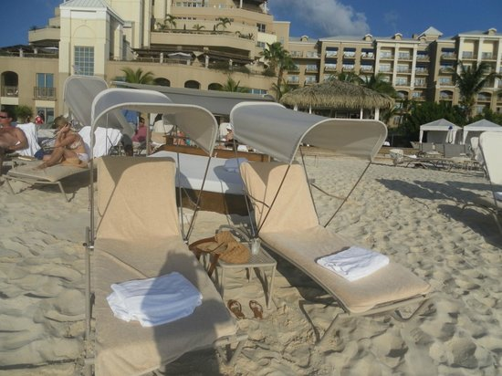 The Ritz-Carlton, Grand Cayman:                   beach chairs