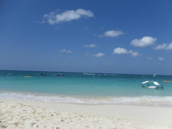 The Ritz-Carlton, Grand Cayman:                   View from beachchairs
