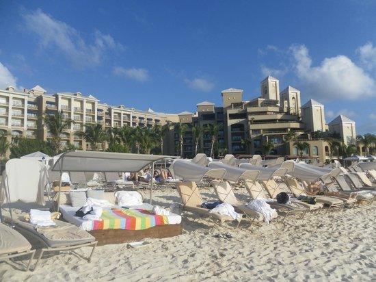 The Ritz-Carlton, Grand Cayman:                   hotel view from the beach