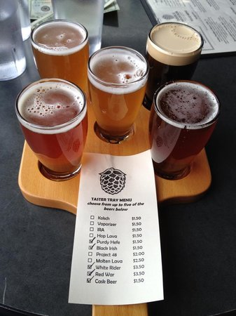 Double Mountain Brewery:                   Double Mountain, Hood River, OR - Tasting Flight of 5 & Full Tasting Menu