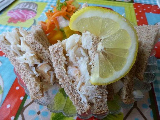 Cobo Tearoom: Crab sandwich